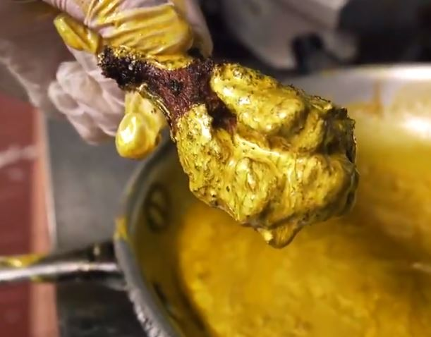 24 karat gold chicken wings - Foodgod - Jonathan Cheban - The Ainsworth NYC - explorethe6.com
